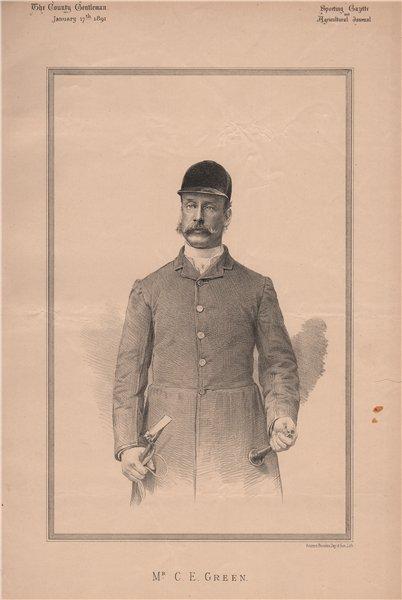 Associate Product Mr. C.E. Green 1891 old antique vintage print picture