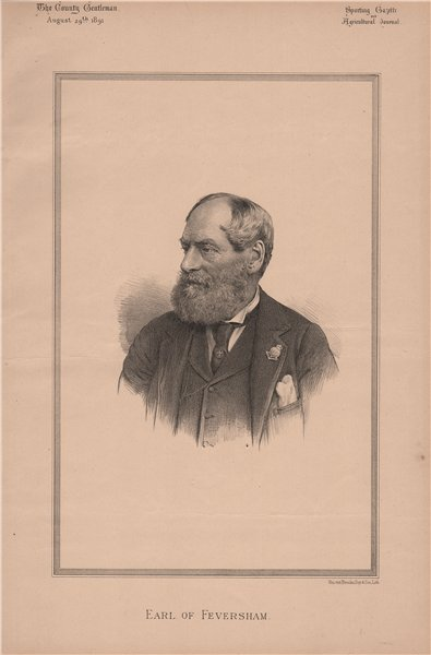 Associate Product Earl of Feversham 1891 old antique vintage print picture