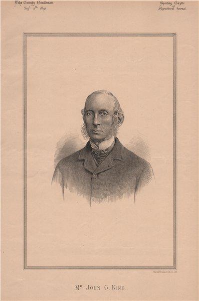 Associate Product Mr. John G. King 1891 old antique vintage print picture