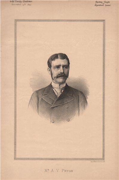 Associate Product Mr. A.V. Pryor 1891 old antique vintage print picture