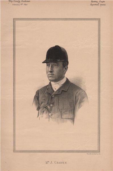 Associate Product Mr. A. Craven 1892 old antique vintage print picture