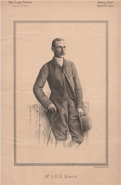 Associate Product Mr. J.E.H. Martin 1892 old antique vintage print picture