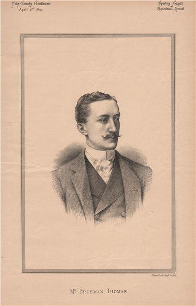 Associate Product Mr. Freeman Thomas 1892 old antique vintage print picture