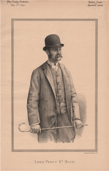 Associate Product Lord Percy St. Maur 1892 old antique vintage print picture