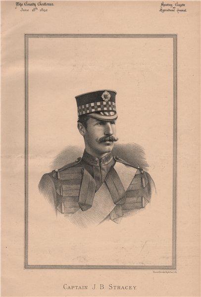Associate Product Captain J.B. Stracey 1892 old antique vintage print picture