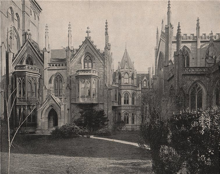 Associate Product Rectory of Grace Church, Manhattan, New York City 1895 old antique print
