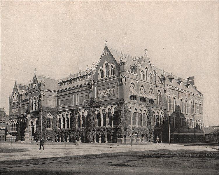 Associate Product Museum of Fine Arts, Boston, Massachusetts 1895 old antique print picture