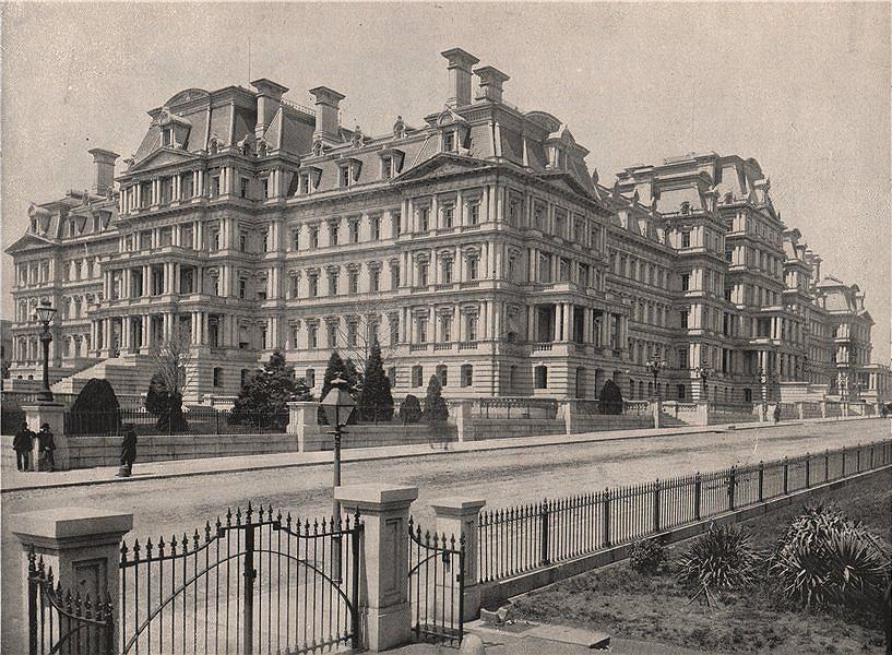 Associate Product State, War & Navy (now Eisenhower Executive Office) Building, Washington DC 1895
