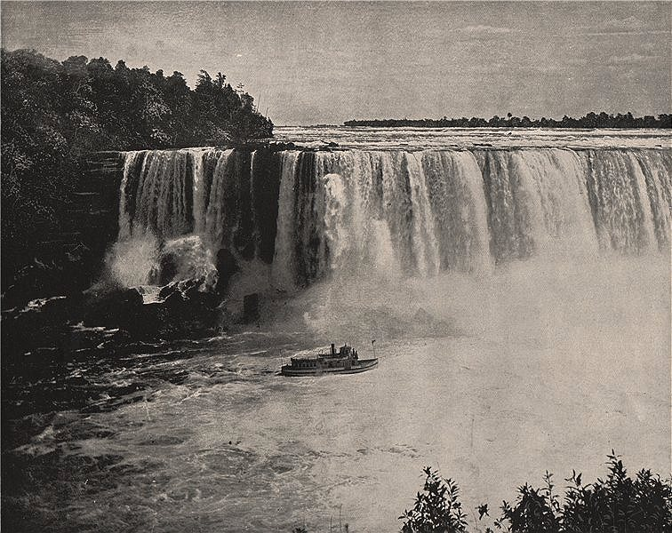 Associate Product Niagara Falls, North America 1895 old antique vintage print picture