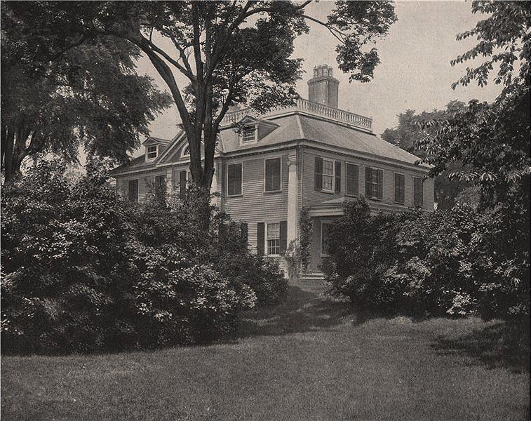 Associate Product The home of the poet Henry Wadsworth Longfellow, Cambridge, Massachusetts 1895