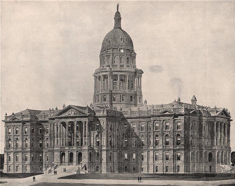 Associate Product Colorado State Capitol, Denver, Colorado 1895 old antique print picture
