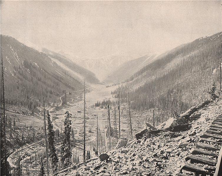 Associate Product Sultan Mountain, Silverton, Colorado 1895 old antique vintage print picture