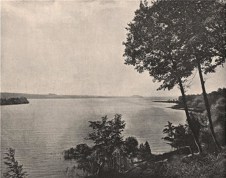Associate Product Saratoga Lake, Saratoga, New York 1895 old antique vintage print picture