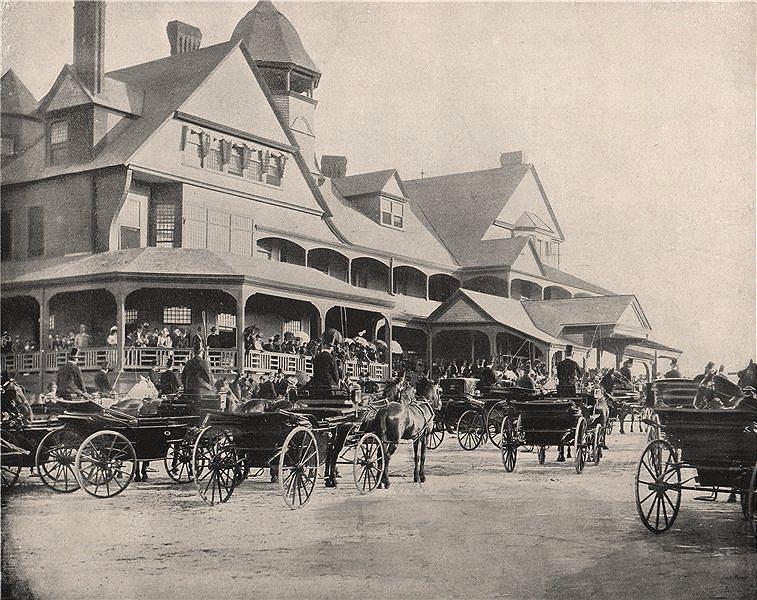 Associate Product Washington Park Jockey Club, Chicago, Illinois. Carriages. Horse racing 1895