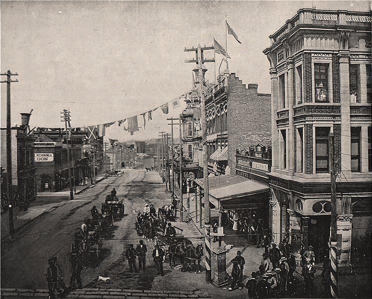 Associate Product Victoria, British Columbia 1895 old antique vintage print picture