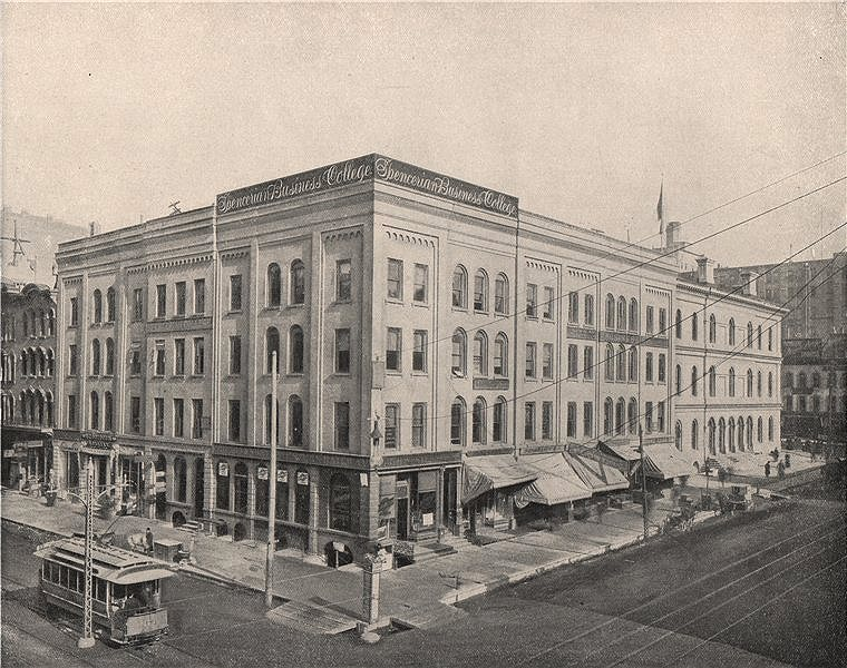 Associate Product Wisconsin Street and Broadway, Milwaukee, Wisconsin 1895 old antique print