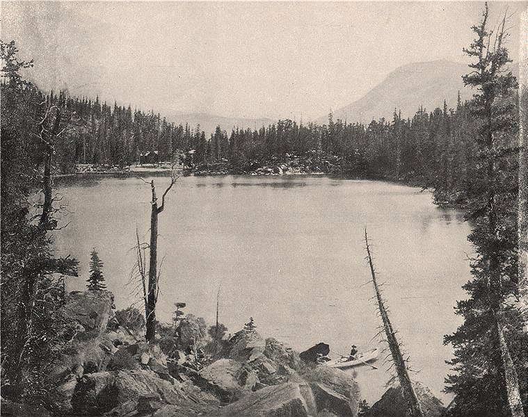 Associate Product Green Lake, Colorado 1895 old antique vintage print picture