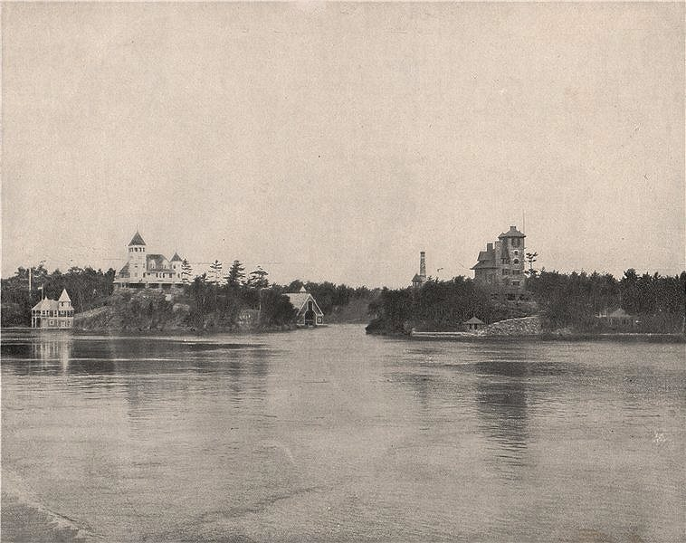 Associate Product The Thousand Islands on the St. Lawrence, North America 1895 old antique print