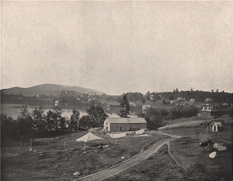 Associate Product Lake Placid, Adirondacks, New York 1895 old antique vintage print picture
