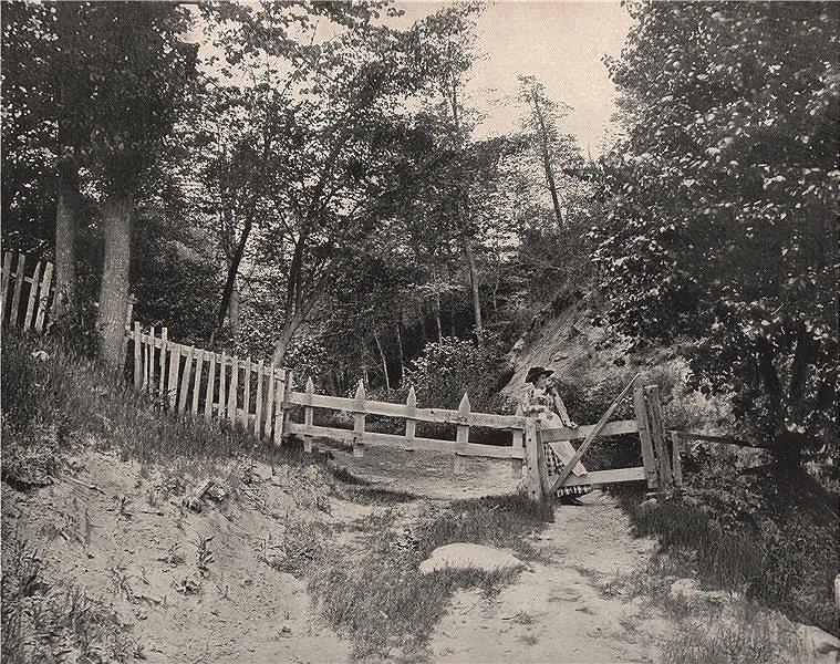 Associate Product In the Berkshire Hills, Massachusetts. Berkshires 1895 old antique print