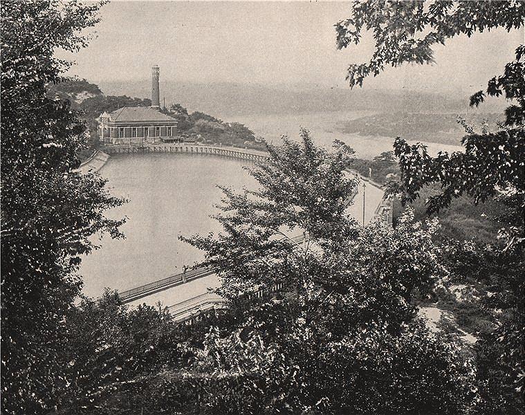 Associate Product The Reservoir, Eden Park, Cincinnati, Ohio. Now Mirror Lake.Pumping station 1895