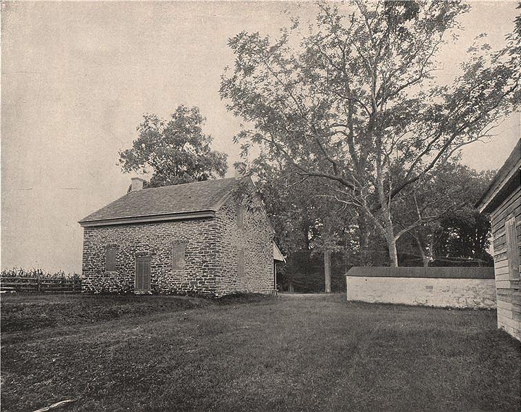 Associate Product Stony Brook Quaker meeting house, Princeton battlefield, New Jersey 1895 print