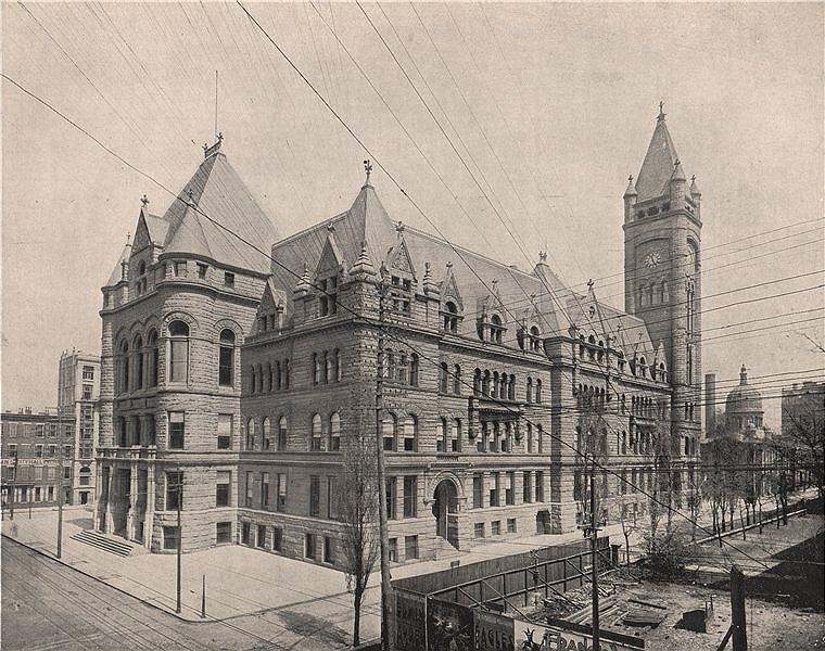 Associate Product Cincinnati City Hall, Ohio 1895 old antique vintage print picture