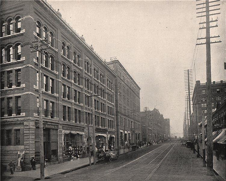 Associate Product Cherry Street, Seattle, Washington 1895 old antique vintage print picture