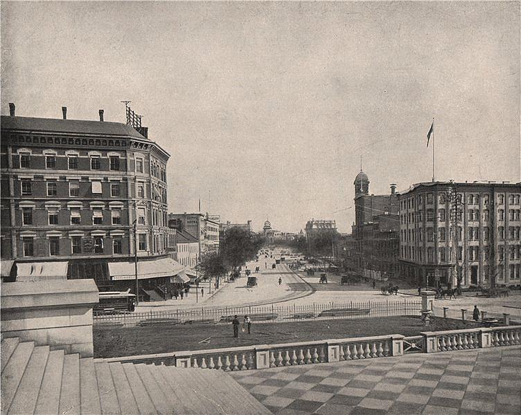 Associate Product Pennsylvania Avenue, Washington DC 1895 old antique vintage print picture