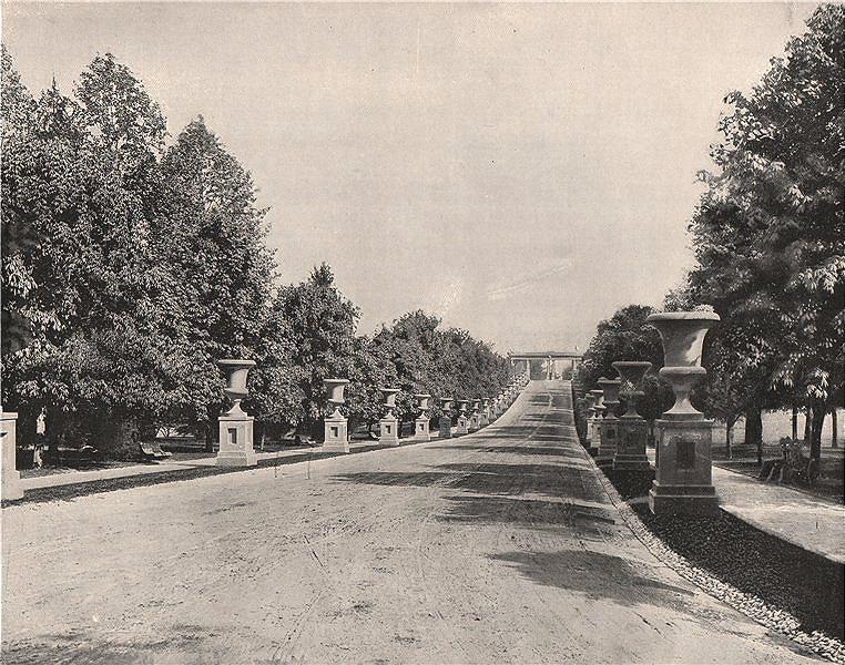 Associate Product Druid Hill Park Gate, Madison Avenue entrance, Baltimore, Maryland 1895 print