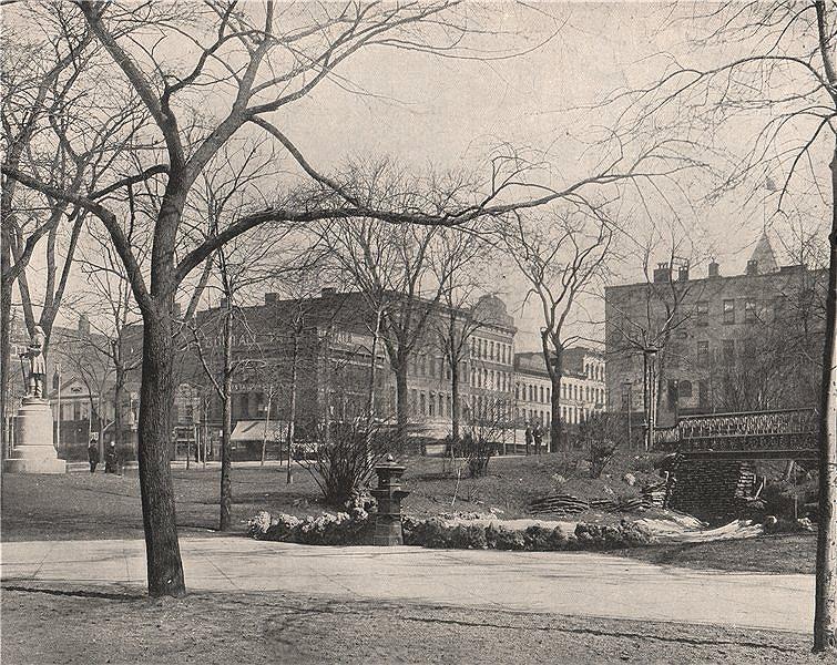 Associate Product Public Square, Cleveland, Ohio 1895 old antique vintage print picture