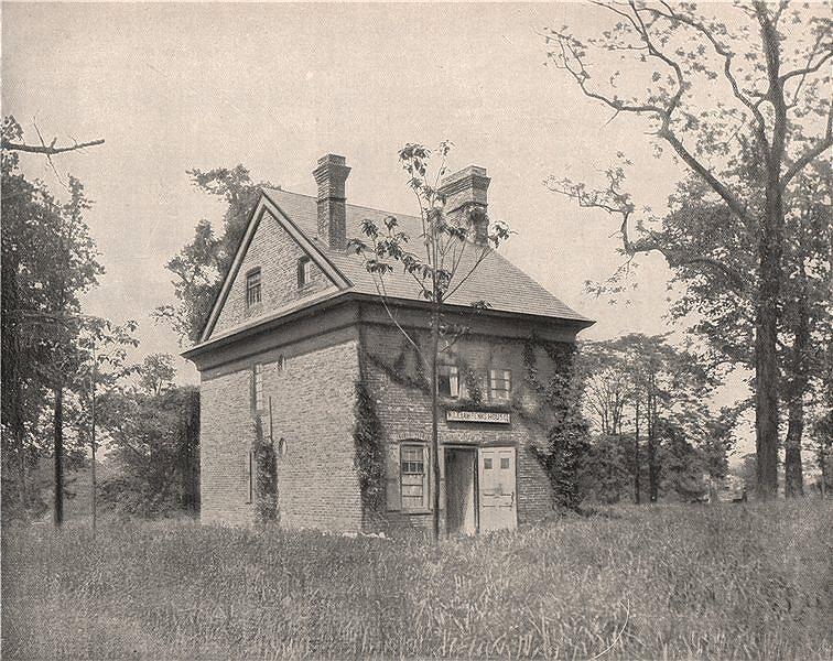 Associate Product The Penn House, Fairmount Park, Philadelphia, Pennsylvania 1895 old print