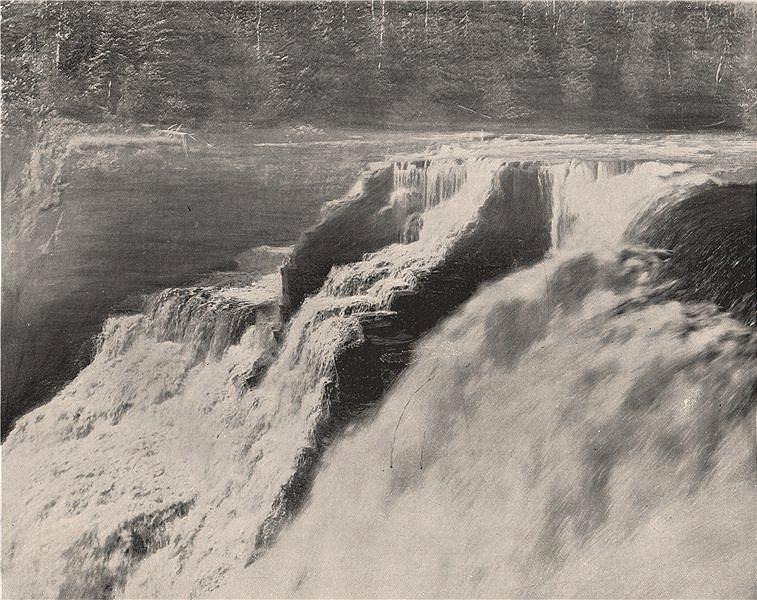 Associate Product Kakabeka Falls, Lake Superior, Ontario 1895 old antique vintage print picture