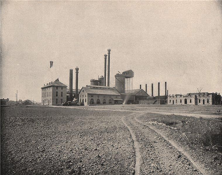 Associate Product The Colebrook Furnace, Lebanon, Pennsylvania. Foundry 1895 old antique print