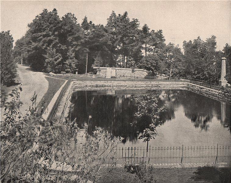 Associate Product Parc du Mont Royal Park, Montreal, Quebec 1895 old antique print picture