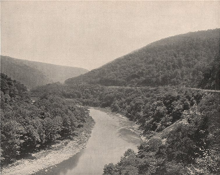 Packsaddle Gap, Conemaugh River, Alleghany Mountains, Pennsylvania 1895 print