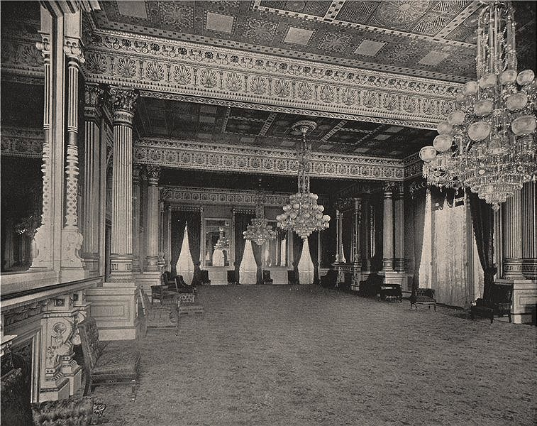Associate Product The East Room, The White House, Washington DC 1895 old antique print picture