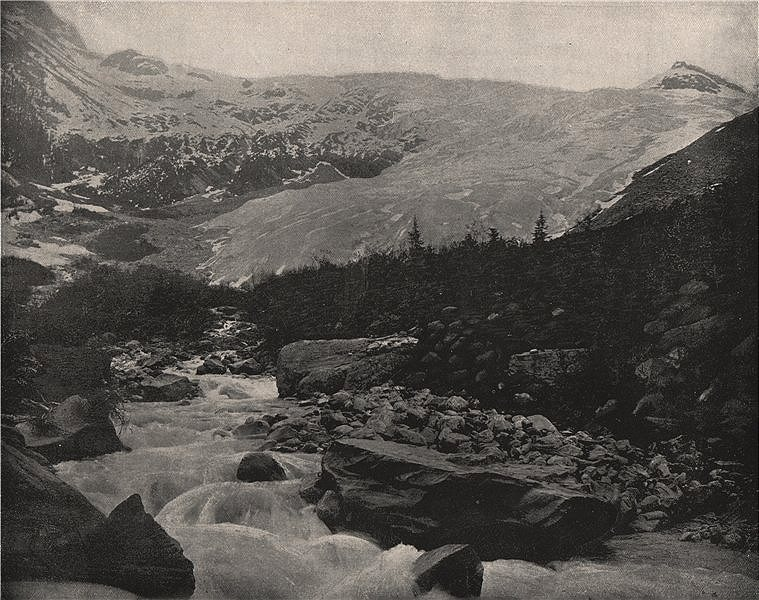 Associate Product The Great Glacier (Illecillewaet Glacier), Selkirk Mountains, Canada 1895