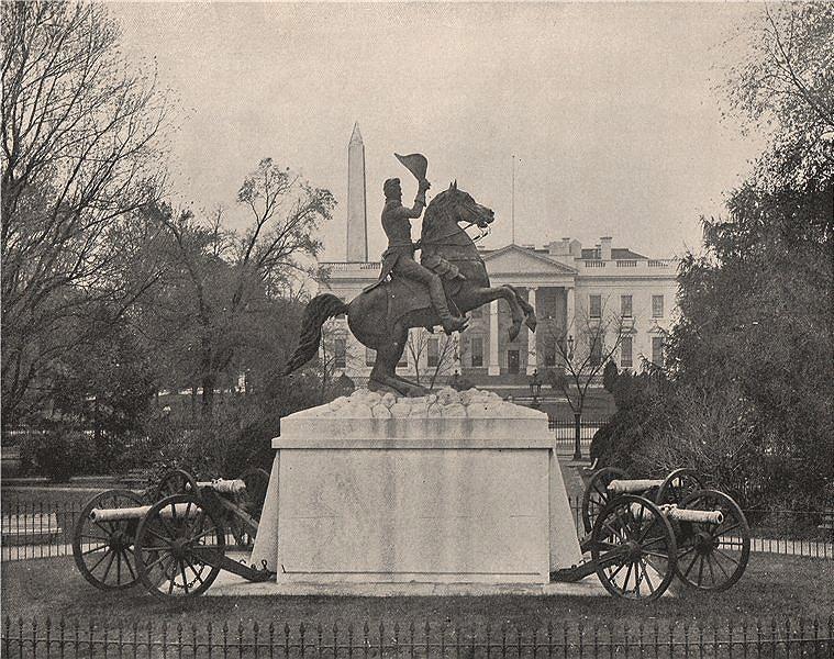 Associate Product President Andrew Jackson statue (Mills), Lafayette Square, Washington DC 1895
