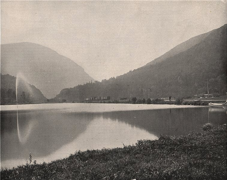 Associate Product Crawford Notch, White Mountains, New Hampshire 1895 old antique print picture