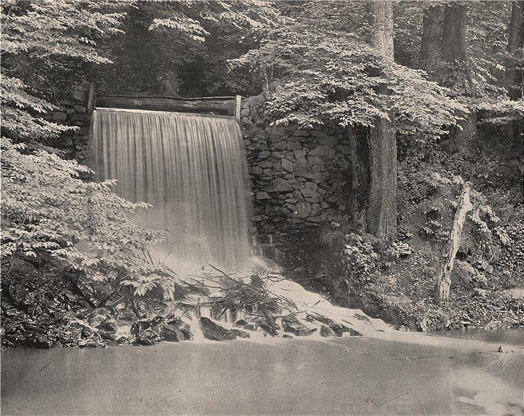 Associate Product Independence Falls, Darby Creek, near Philadelphia, Pennsylvania 1895 print