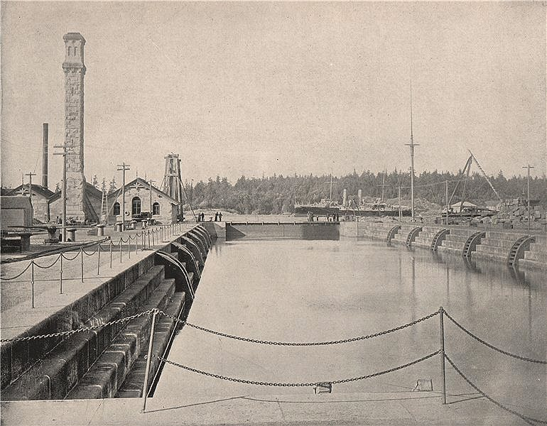 Associate Product Esquimalt Royal Navy Dry/Graving Dock, Vancouver Island, British Columbia 1895