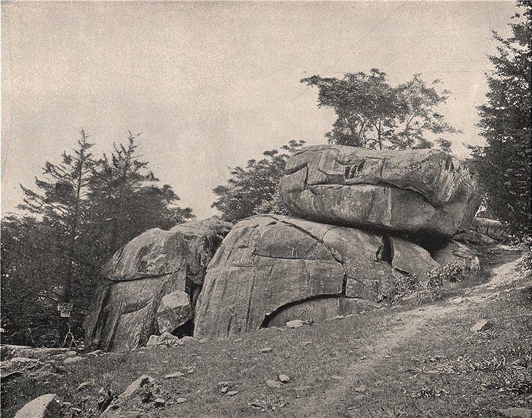 "Associate Product The ""Devil's Den"", Gettysburg, Pennsylvania 1895 old antique print picture"