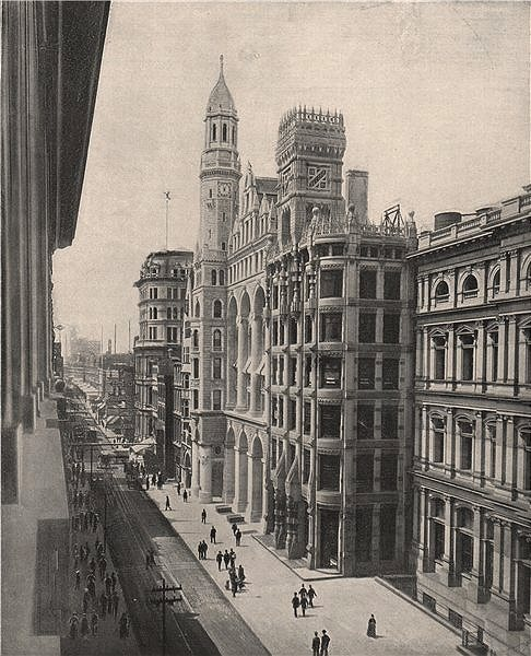 Associate Product Chestnut Street, Philadelphia, Pennsylvania 1895 old antique print picture