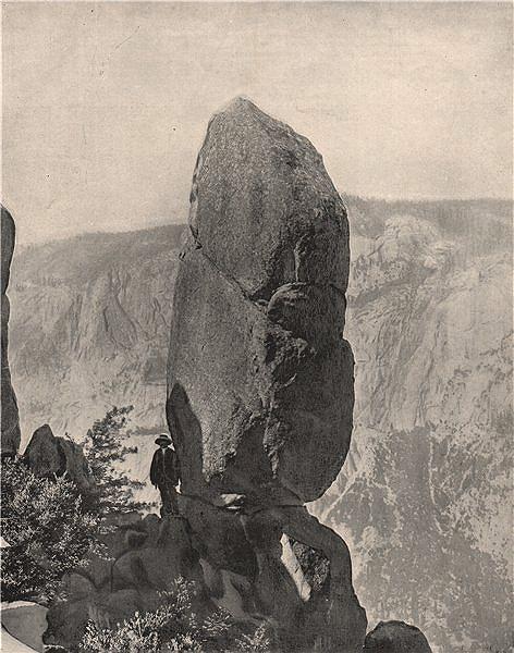 Agassiz Column, Yosemite, California 1895 old antique vintage print picture