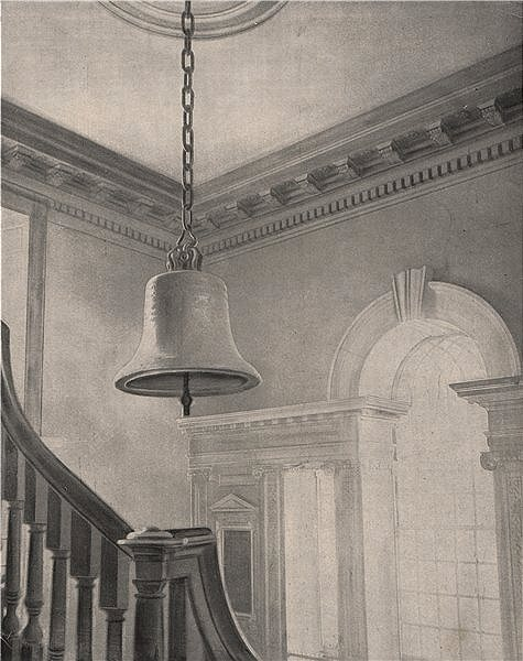 Associate Product Liberty Bell in Independence Hall, Philadelphia, Pennsylvania 1895 old print