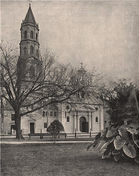 Associate Product The Cathedral Basilica of St. Augustine, Florida 1895 old antique print