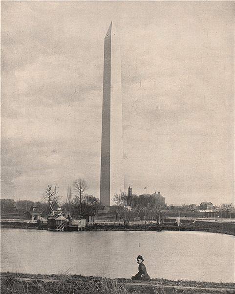 Associate Product The Washington Monument, Washington DC 1895 old antique vintage print picture