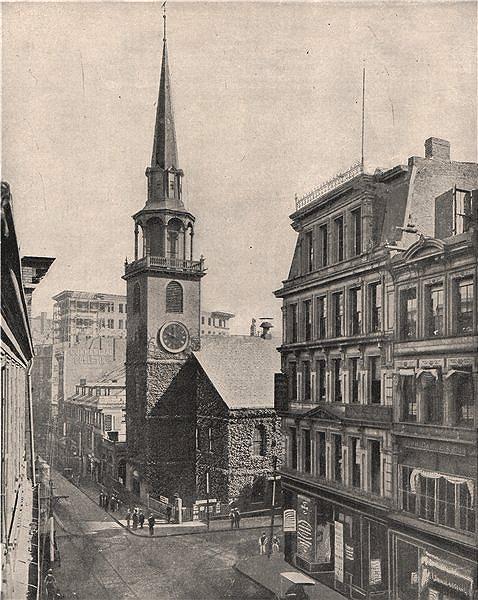 Associate Product Old South Meeting House Church, Boston, Massachusetts. Milk/Washington Sts 1895