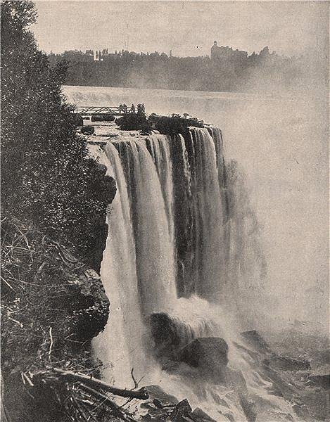 Associate Product The Horseshoe Falls, Niagara, Ontario 1895 old antique vintage print picture